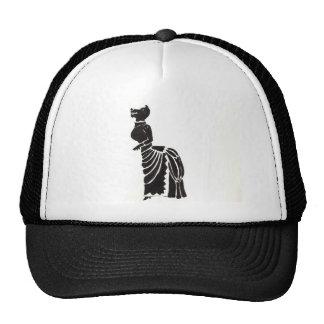 Hombre lobo en un vestido de lujo gorra