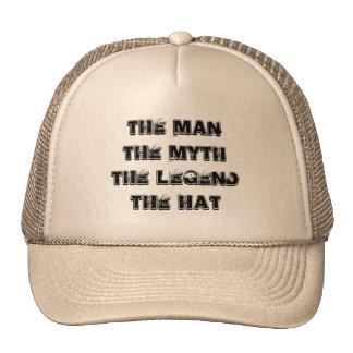 Hombre mito gorra de la leyenda