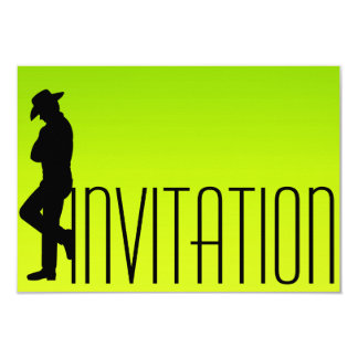 Hombre Ombre fluorescente de los cigarros del Vip Invitación 8,9 X 12,7 Cm