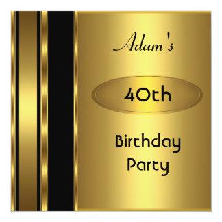 Hombre para hombre de la fiesta de cumpleaños del invitación 13,3 cm x 13,3cm