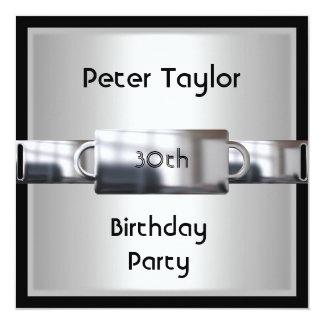 Hombre para hombre del cumpleaños de la plata del comunicados personalizados