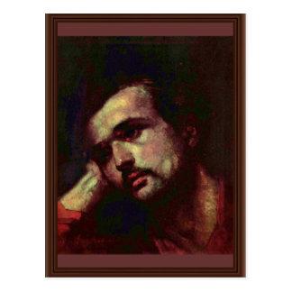 Hombre pensativo de Grigorescu Nicolae Tarjeta Postal