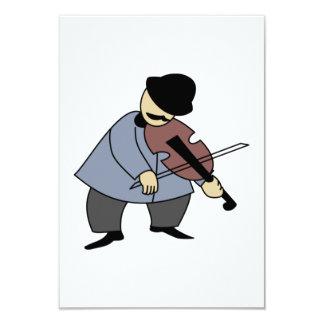 Hombre que toca un violín comunicados personalizados