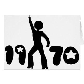 Hombre retro de los años 70 tarjeta de felicitación
