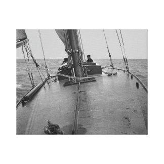 Hombre solamente circa el barco 1910 del velero lienzo