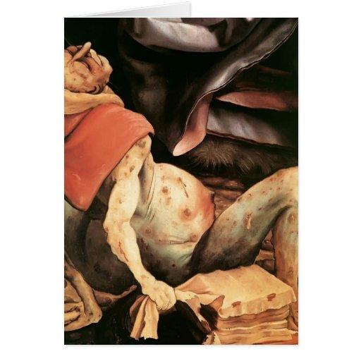 Hombre sufridor de Matías Grünewald- Tarjeton