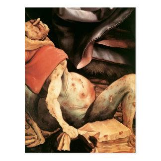 Hombre sufridor de Matías Grünewald- Postal