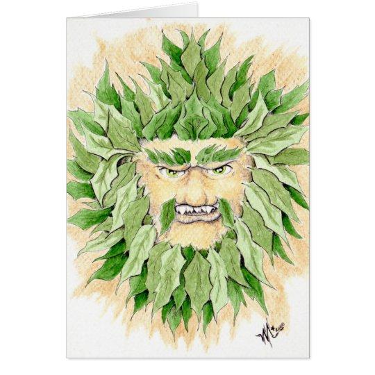 Hombre verde céltico tarjeta de felicitación