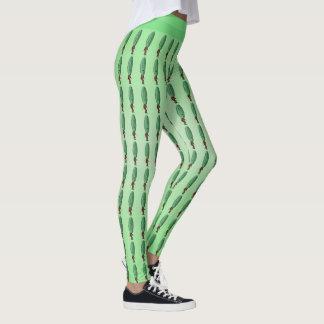 Hombre verde de la cabeza de la salmuera de la leggings