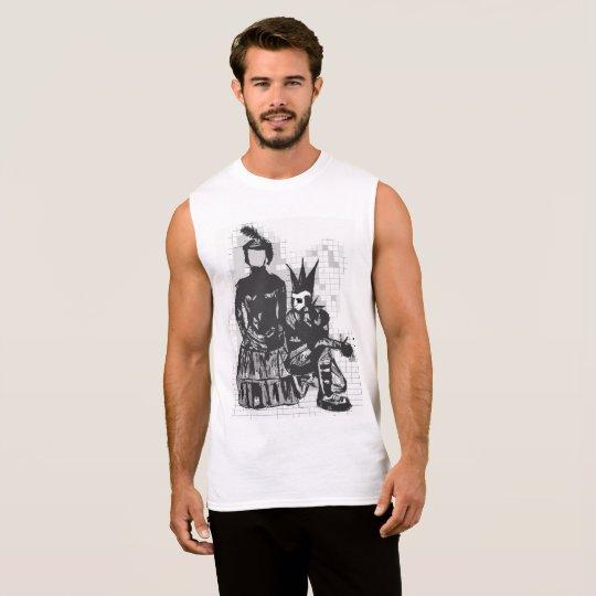 Hombres anónimos góticos de la camisa de deporte