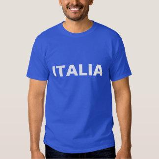 Hombres azules e ITALIA blanca Camisetas
