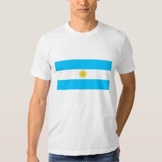 Hombres blancos T-shirt con bandera de Argentina