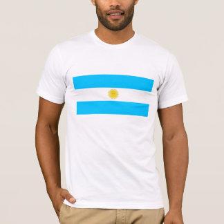 Hombres blancos T-shirt con bandera de Argentina Camiseta