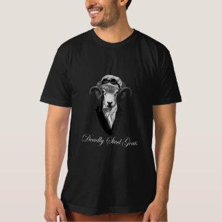 hombres de acero mortales de las cabras oscuros camiseta