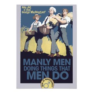 HOMBRES de hombres del humor del vintage Invitación 12,7 X 17,8 Cm