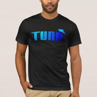 Hombres de la camiseta de la diversión del atún