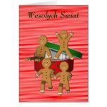 Hombres de pan de jengibre polacos de la tarjeta d