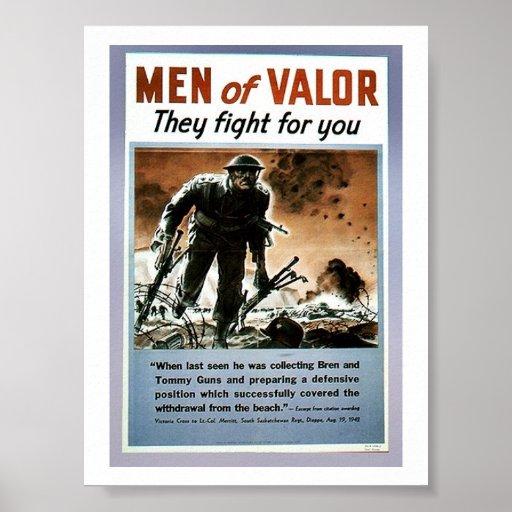 Hombres de valor posters