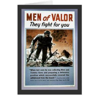 Hombres de valor tarjeta
