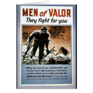 Hombres de valor felicitaciones