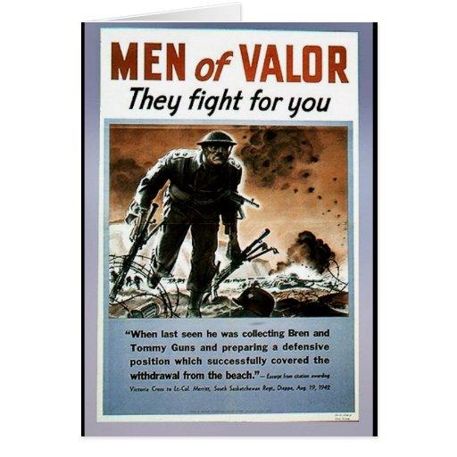 Hombres de valor felicitación
