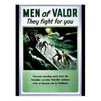 Hombres de valor postales