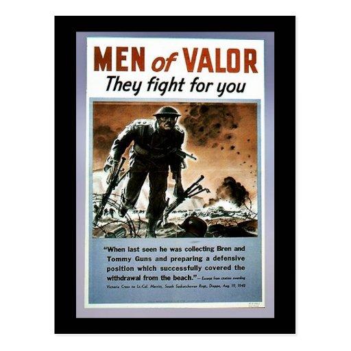 Hombres de valor tarjetas postales