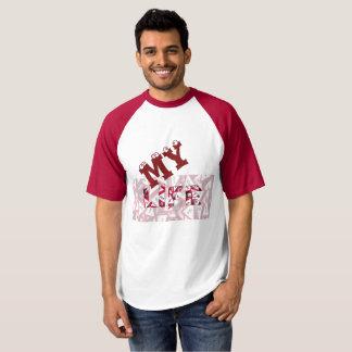 Hombres del camisetas del raglán