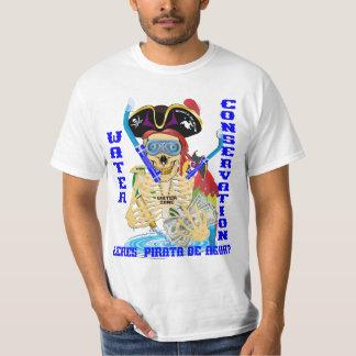 HOMBRES del español de Pirata del agua de Camiseta