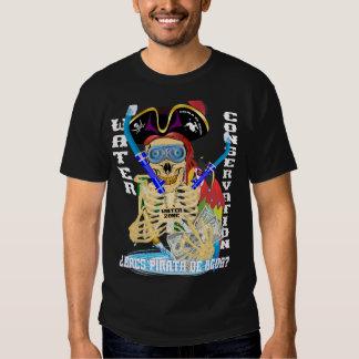 HOMBRES del español de Pirata del agua de Camisetas