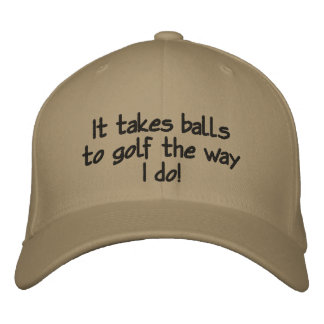 Hombres divertidos, gorra de encargo del golf