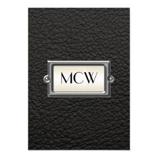 Hombres ejecutivos cones monograma 3-Letter Invitación 12,7 X 17,8 Cm