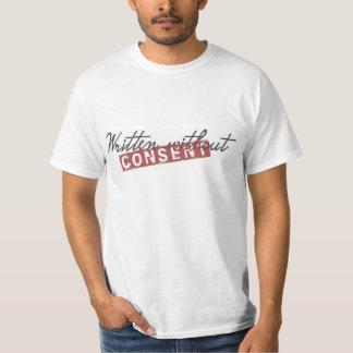 Hombres escritos sin consentimiento camisetas