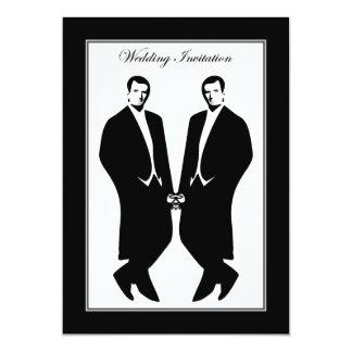 Hombres gay que casan la invitación. Ceremonia del Invitación 12,7 X 17,8 Cm