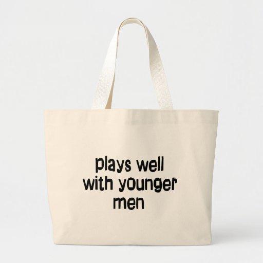 Hombres más jovenes bolsas lienzo