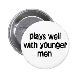 Hombres más jovenes chapa redonda de 5 cm