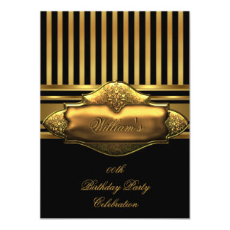 Hombres negros elegantes de la fiesta de invitación 11,4 x 15,8 cm