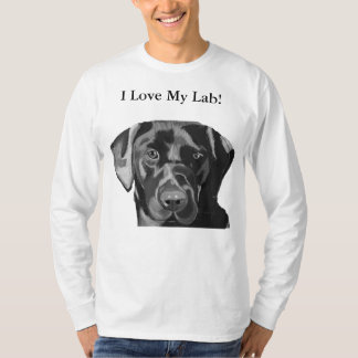 Hombres negros preciosos de Labrador superiores Camiseta