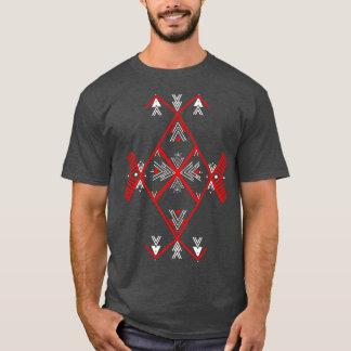 Hombres rojos de la camiseta del diseño de Amazigh