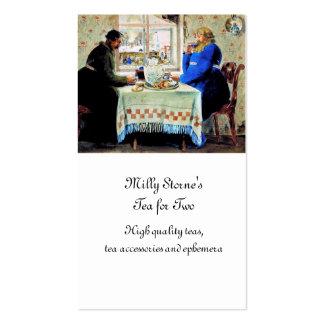 Hombres rusos en el té tarjetas personales