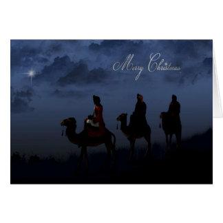 Hombres sabios del navidad tarjeta de felicitación