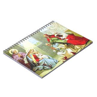 Hombres sabios en la natividad cuadernos