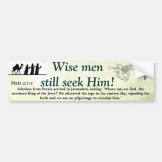 Hombres sabios pegatina para coche
