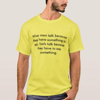 Hombres sabios y tontos camiseta