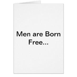 Hombres y boda tarjeta de felicitación