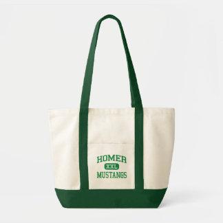 Home run - mustangos - joven - Lockport Illinois Bolsa Tela Impulso