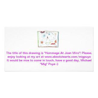 Homenaje en Joan Miro Tarjeta Personal Con Foto