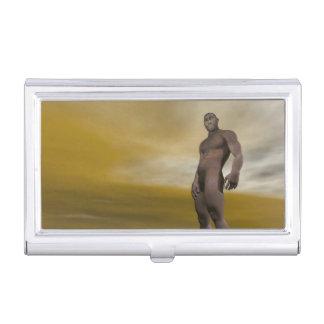 Homo erectus masculino - 3D rinden Caja Para Tarjetas De Visita