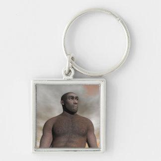 Homo erectus masculino - 3D rinden Llavero
