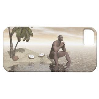 Homo erectus que piensa solamente - 3D rinden Funda Para iPhone SE/5/5s